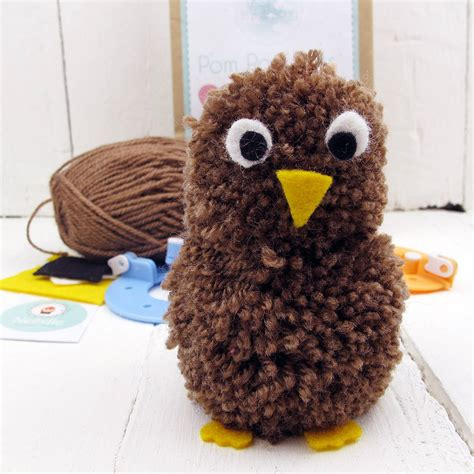 pomeranian as a pet pom pom pets craft kit brown owl by hurley notonthehighstreet