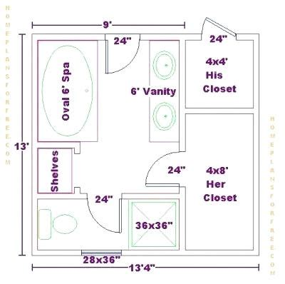 his and bathroom floor plans narrow master bathroom floor plans best bathroom layout
