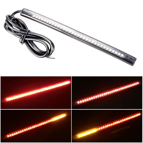 12v amber led light strips 12v universal motorcycle 32 led 3528 smd led strip tail