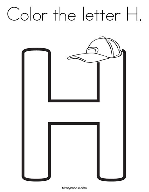 Coloring Pages Of The Letter A Letter H Coloring Letter A Coloring | things that start with the letter h coloring pages