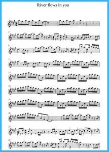 Music score of quot river flows in you quot free sheet music for sax