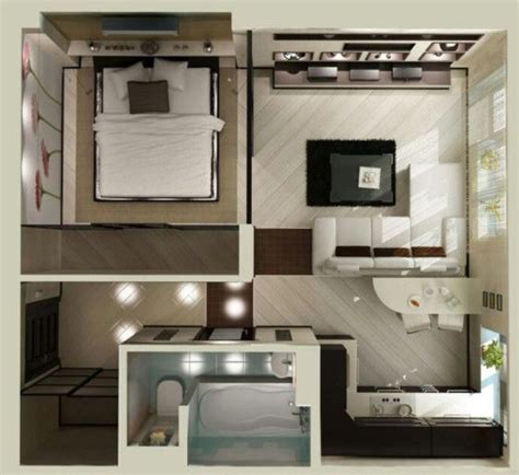 1 bedroom plano apartments plano de apartamento peque 241 o habitaciones estudiantiles