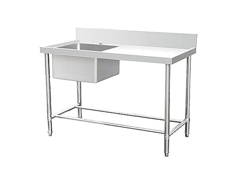 stainless steel work table with sink stainless steel sink with work table left normal