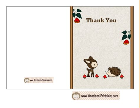 printable vire birthday cards free printable woodland baby shower thank you cards