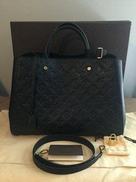 10 High Quality Lv Montaigne 41055 black tote louis vuitton and black tote bag on