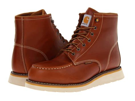 carhartt 6 quot moc toe wedge safety toe boot zappos