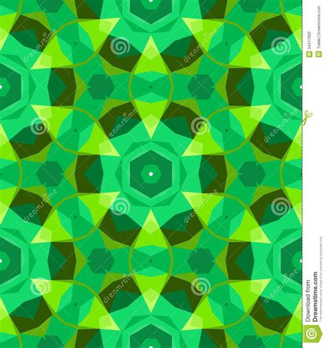 African Print Home Decor multicolor geometric pattern in bright green stock photo