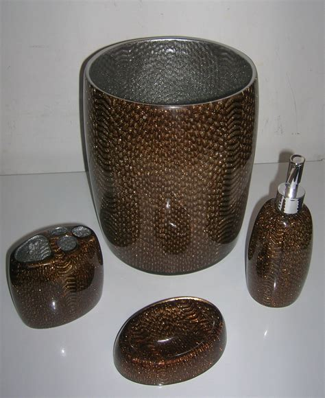 brown bathroom accessories sets 4pc bathroom set bathroom accessories brand new in brown