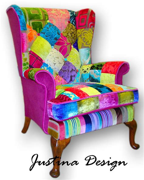 Patchwork Armchair - 1000 ideas about wingback armchair on
