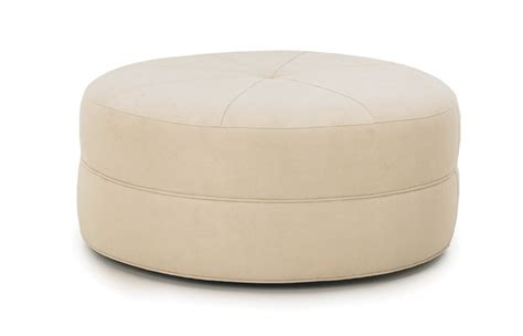 who are ottomans kaitlyn 42 52 round cocktail ottoman rc furniture