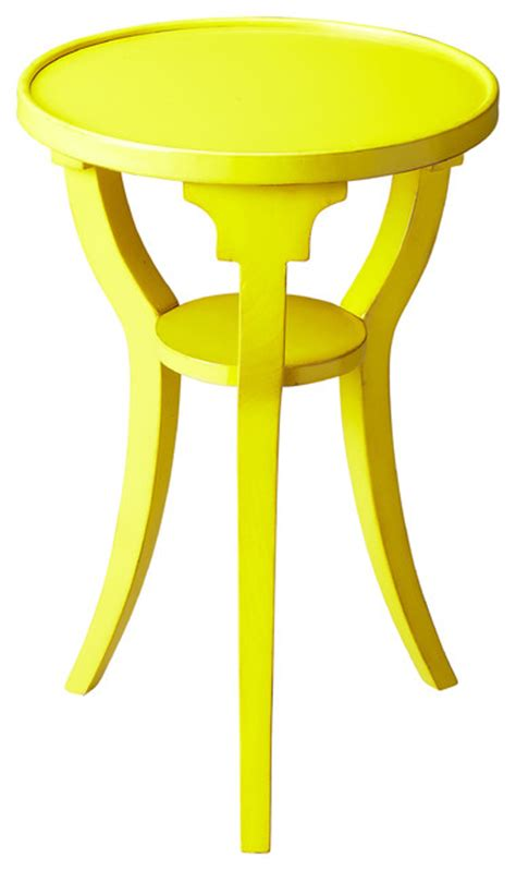 Yellow Accent Table Dalton Yellow Accent Table Contemporary Side Tables And End Tables