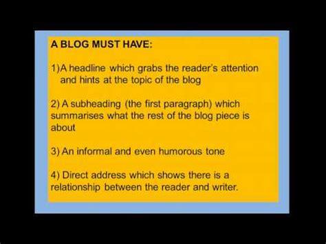 blogger english english language exam section b how to write a blog post