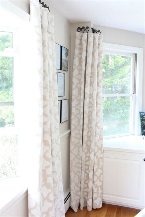 ways to hang curtains without rods 25 best ideas about bay window curtain rod on pinterest