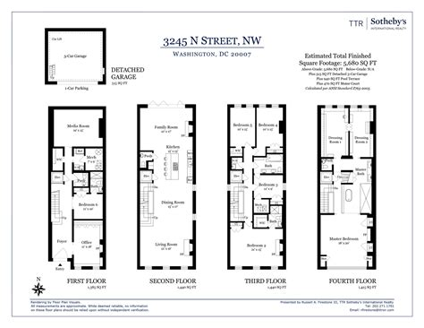 Philadelphia Row Home Floor Plan With Garage by Row House Floor Plans Washington Dc Escortsea