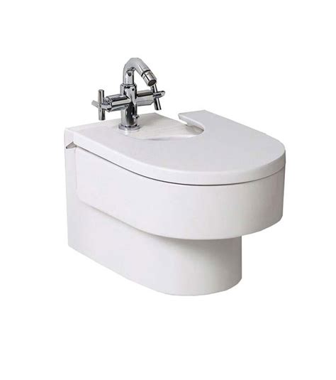 bidet roca roca happening wall mounted bidet with seat cover 357565000