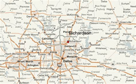 richardson texas map richardson location guide
