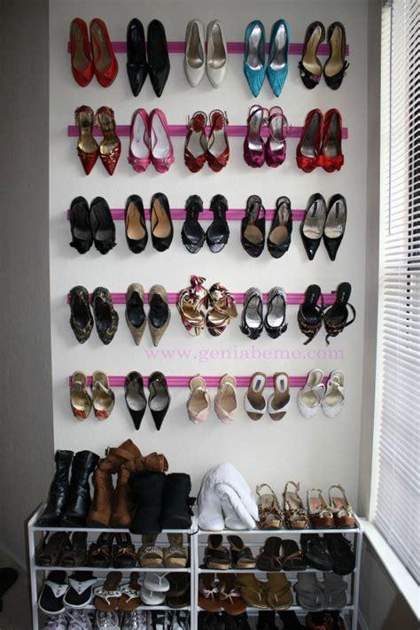 high heel organizer closet organizing hacks tips