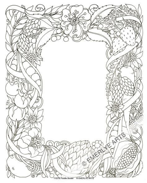 Coloring Page Border by Cynthia Emerlye Vermont Artist And Coach Edibles
