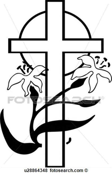 clipart religiose black and white easter religious clipart