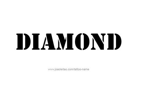 diamond tattoo name diamond name tattoo designs