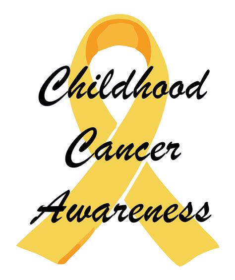 childhood cancer awareness color childhood cancer awareness month two who