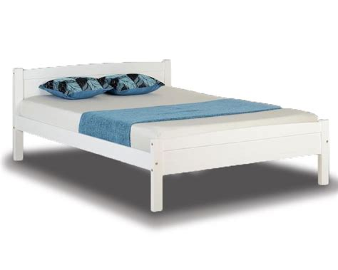 double bed frames ambrose white double bed frame
