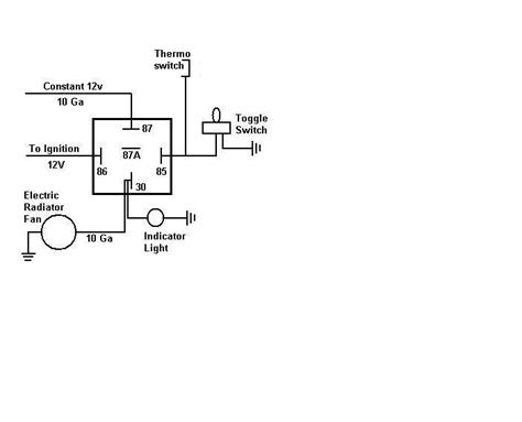 12 volt radiator fan relay wiring diagram 12 get free