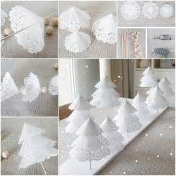 Christmas Decorating Ideas For The Home creative ideas diy pretty paper doily christmas trees