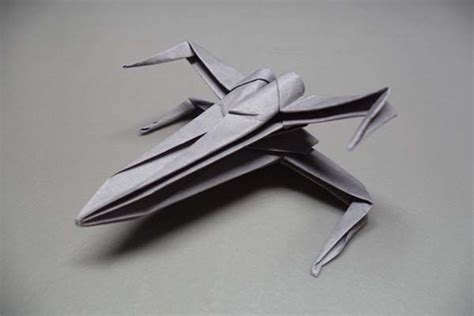 How To Make A Paper X Wing Fighter - make x wing starfighter origami by yourself gadgetsin