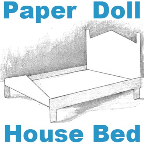 Make A Paper House - make a paper doll house bed foldable paper crafts for