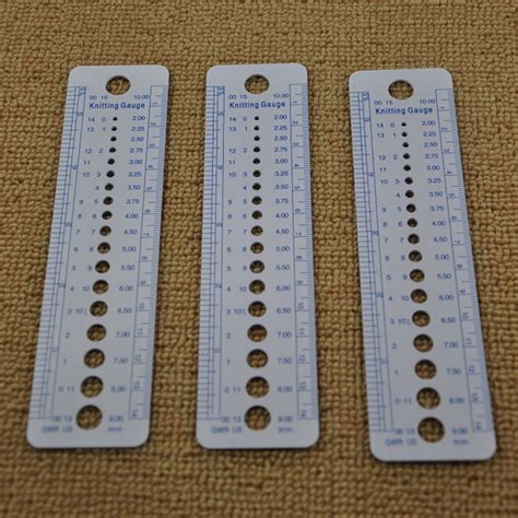 knitting pattern ruler 1pcs knitting guage inch cm sewing ruler us uk canada