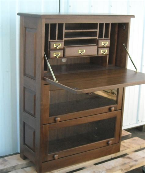 Drop Front Computer Desk Woodworking Plans Lawyer S Bookcase Woodworking Projects Plans