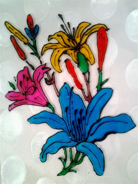 flower design for glass painting explore your talent glass painting beautiful flowers