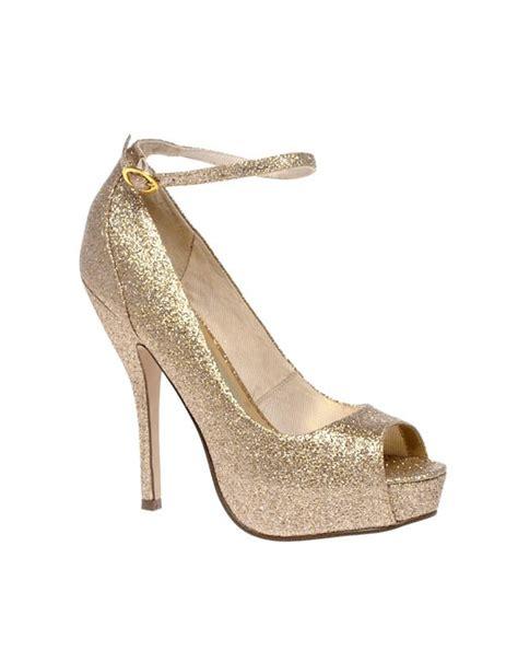 asos asos paranormal gold platform shoe