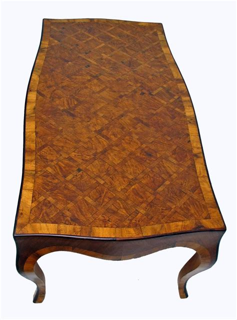 Inlaid Wood Coffee Table Inlaid Burl Wood Parquetry Cocktail Coffee Table Italian At 1stdibs