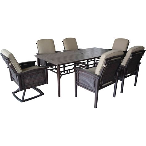 7 pc patio dining set patio logic prairie 7 pc dining set dining tables