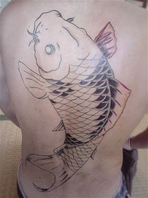 tattoo koi fish back large koi fish tattoo on back