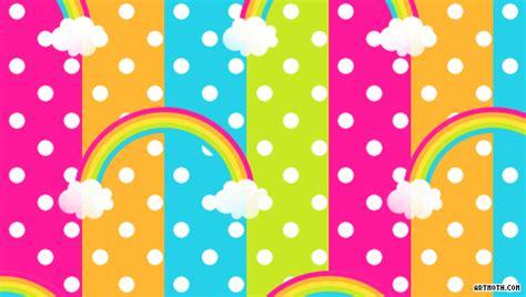 Rainbow Polka Dot Wallpaper Group 50 Color Print Out L