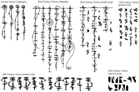 written language the vulcan written language through the centuries