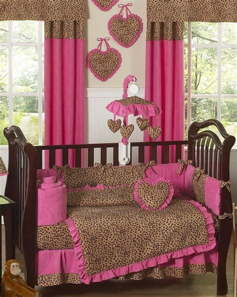 Pink And Leopard Crib Bedding Cheetah Pink Brown Baby Bedding Set Sweet Jojo Designs