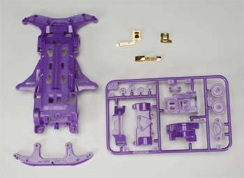 Tamiya 18085 Vs Chassis Set Purple 94568 vs chassis purple with gold plated terminal