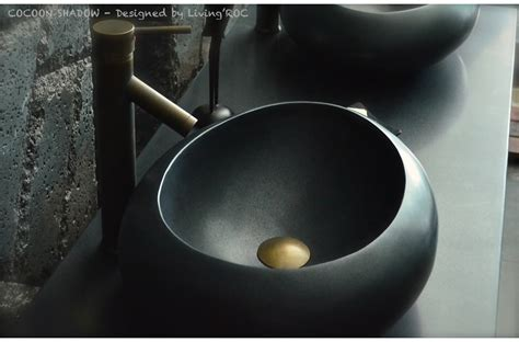 black granite vessel bathroom sinks 19 quot oval black granite stone bathroom vessel cocoon