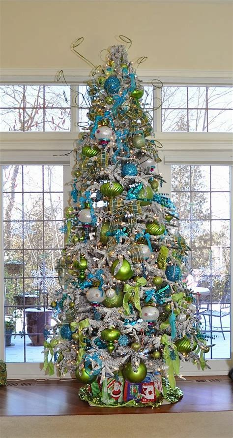 christmas tree decorating ideas beautiful turquoise and