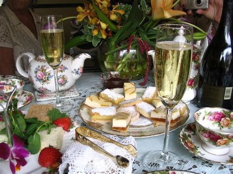four seasons tea room my bridal shower during the dessert serving they let us bring chagne and our own glasses a