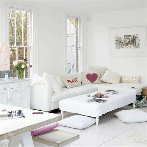 Sleek Living Room Ideas by Sleek White Living Room Living Room Designs Decorating Ideas Housetohome Co Uk