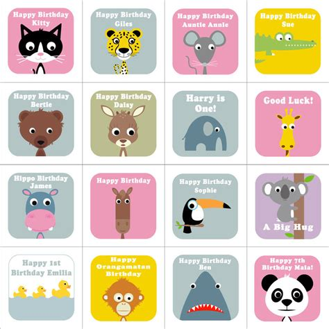 animal cards template personalised wobbly eyed animal cards by stripeycats