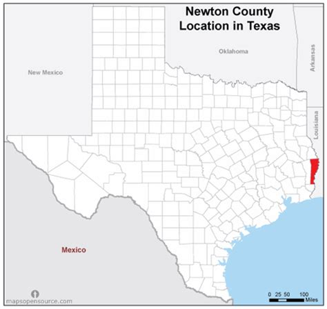 newton county texas map free and open source location map of newton county texas mapsopensource