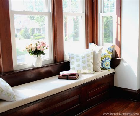 how to make window bench diy window seat cushion christinas adventures