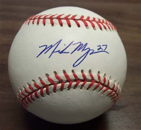 mike myers yankees mike myers autographed baseball