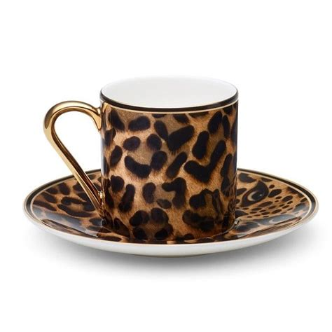 leopard home decor asprey leopard espresso cup 485 liked on polyvore